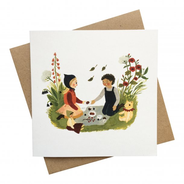 Tijana Card & Envelope - Simple Birthday Picnic - 15x15 cm
